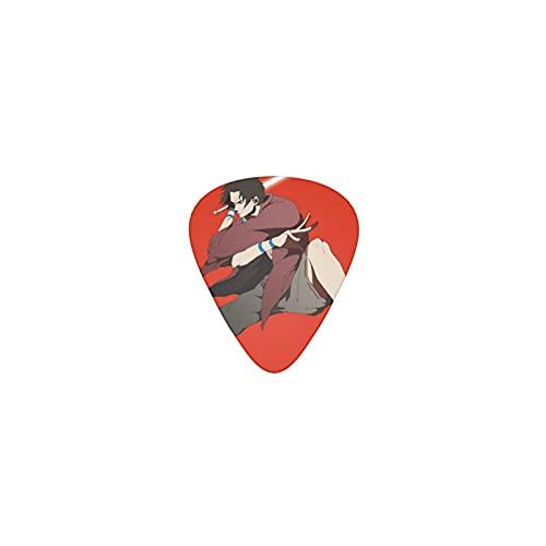 Samurai Champloo - Púas para guitarra (triángulo, clásico), diseño de púas, diseño novedoso, para guitarristas, para guitarras acústicas y eléctricas
