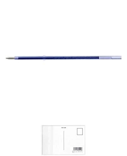 ぺんてる ボールペンリフィル ビクーニャ XBXM5H-C 10本パック 青 + 画材屋ドットコム ポストカードA