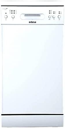 Edesa | Lavavajillas Modelo EDW 4610 WH | Lavavajillas Libre Instalación | 6 Programas | Ancho de 45 cm | Nivel sonoro 49 dB | Clase de Eficiencia Energética E | Acabado en Color Blanco