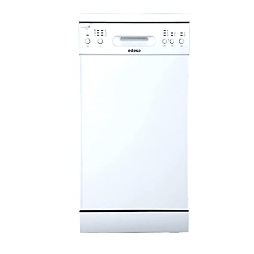 EDESA EDW-4591 WH - Lavavajillas libre instalación (ancho de 45 cm, 6 programas, Eficincia Energética E) color blanco