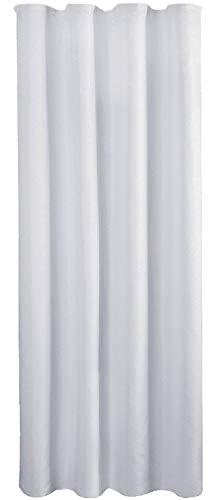 Bestlivings Blickdichte Hellgraue Gardine mit Kräuselband in 140x245 cm (BxL), in vielen Größen und Farben