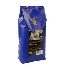 GEPA Bio Kaffee Grano Crème - ganze Bohne - 1 Karton (4 x 1000g) Fair Trade Kaffee