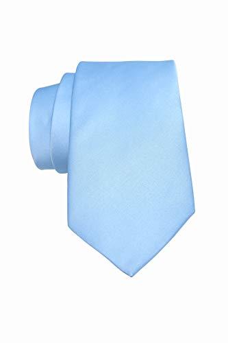 RAU Corbata de hombre azul celeste.