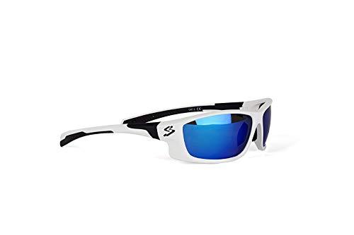 Spiuk Spicy – Gafas de Ciclismo Unisex, Color Blanco/Negro