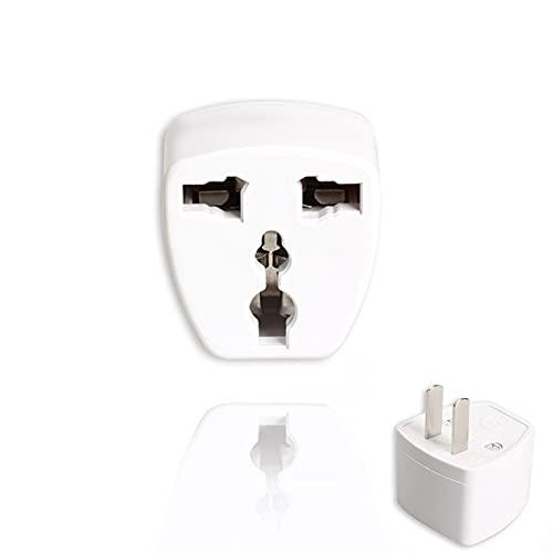 Yuui Adaptador universal de corriente alterna de pared, enchufe británico a enchufe estadounidense