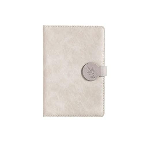 ZANZAN Cuadernos de Notas PU Notebook Portátil Hebilla Magnética Diario Creativo Simple Cuero Espesado Cuaderno Adecuado para Viajeros Y Estudiantes blocs de Notas (Color : B Light Color)