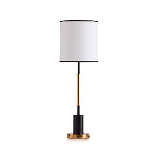 NXYJD La sombra Estilo minimalista Europea forjado mesa de hierro de la lámpara de la lámpara de galvanoplastia Tela de Oro Protección de los ojos lámpara de escritorio de la lámpara de la sala de est