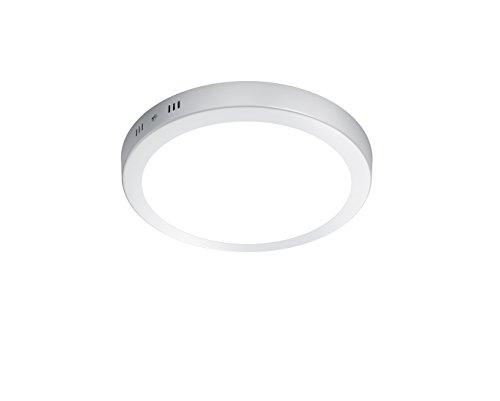 Trio Leuchten LED Deckenleuchte Cento 657011801, Aluminium weiß, 1x 17 Watt