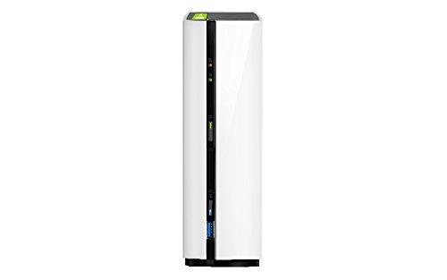 QNAP TS-128 NAS Mini Tower Eingebauter Ethernet-Anschluss Schwarz, Weiß - NAS & Speicherserver (2 TB, Festplatte, Festplatte, SATA, 2000 GB, 3.5 Zoll)