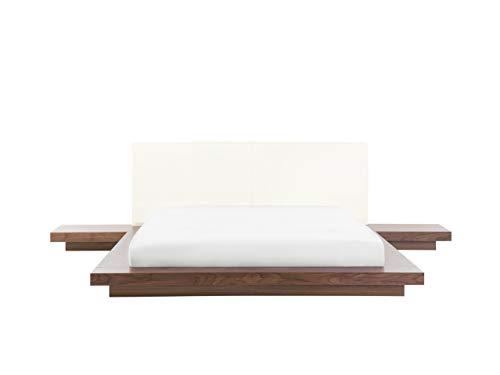Beliani Cama Estilo japonés Madera 160x200 cm Zen