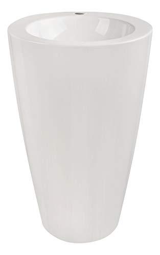 Calmwaters® Design-Standwaschbecken aus Mineralguss mit Hahnloch und Überlauf, 52,5 cm breit - 05BC4931