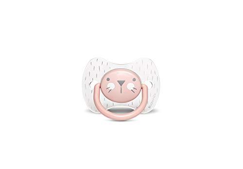 Suavinex 306609 Succhietto con Tettina Simmetrica in Silicone, Da 6 a 18 mesi, Hygge Colore Rosa - 30 g