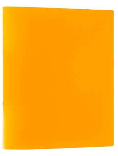 Idena 10436 - Ringbuch im Format DIN A4, mit 2-Ring-Mechanik, 20 mm Rückenbreite, orange, 1 Stück