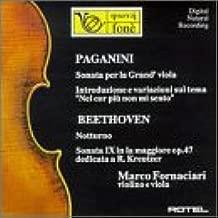 Nicolò Paganini: Sonata for the Grand Viola & Guitar / Introduction & Variations on