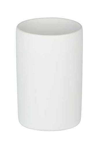 WENKO DIE BESSERE IDEE Bicchiere portaspazzolini Polaris Bianco Opaco