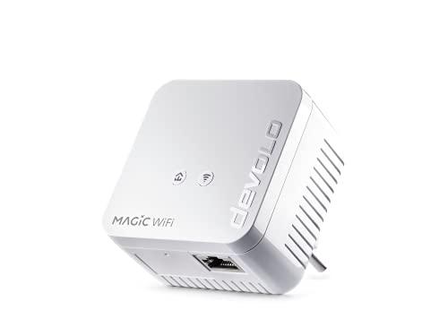 devolo Magic 1 – 1200 WiFi mini Single Adapter: Adaptador WiFi Powerline pequeño, ampliación segura para su red doméstica...