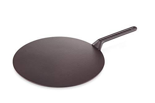 Le Creuset Durable Cast Iron Crepe Pan, With Long Lasting Enamel Coating and Ergonomic Handle, 32 cm, Satin Black, 200473200