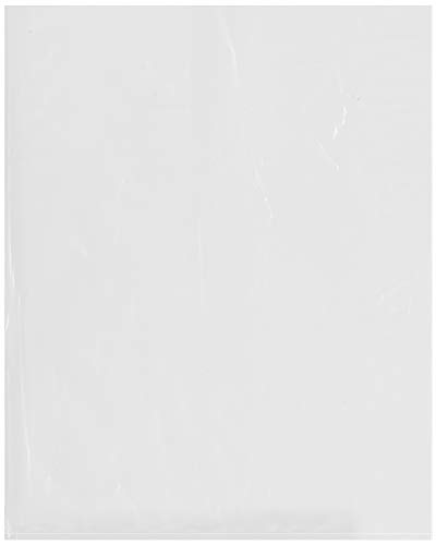 Plymor Flat Open Clear Plastic Poly Bags, 2 Mil, 16