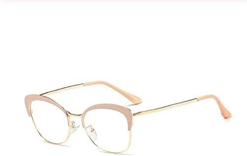 Glasses Fram Eyeweare Art Fashion Comfortable Metal Half Frame Eye Glasses Frames for Women Cat Eye Plain Glasses Trendy Nerd Computer Spectacles Frames Eyewear Frames Fashion Women Accessories Gift