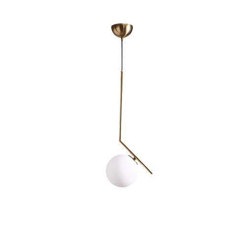 Moderne rond globe blanc verre dépoli Industriel Verre abat-jour Suspensions Luminaire Intérieur Plafonnier suspendu E27 de boule lumière adaptée Lustre pour café restaurant chambre à coucher (15cm)