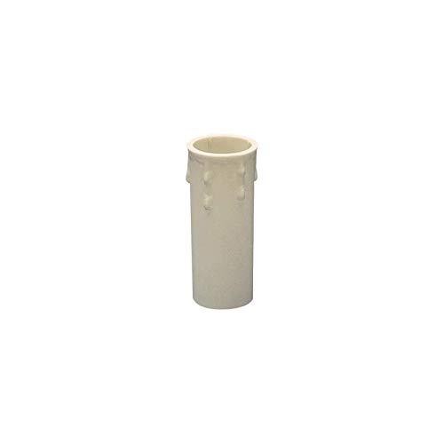 Lampo Finta Candela Con Goccie Cover Rivestimento Di Plastica Per Portalampada - E14 Bianco, 65 mm