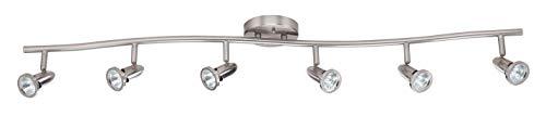 Luminance F2992-80 Contemporary Track Light, Bright Satin Nickel
