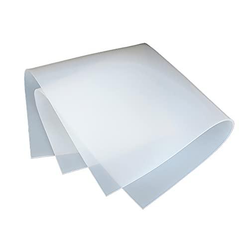 BDOUyi Lámina de Goma lechosa Resistente al Calor para Aislamiento Industrial, amortiguación de Vibraciones,1pc,500x500x15mm