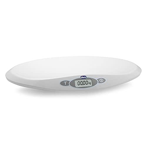 Chicco - Elektronische Babyweegschaal - 30 g tot 20 kg - LCD-Scherm - Met Gewichtsstabilisator - Opslaan Laatste Weging - Tarra-Functie