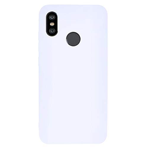 ZDCASE Redmi Y2 Funda, A Prueba de choques TPU Suave Ultra Delgado Ligero Flexible Caucho Protectora Funda para Xiaomi Redmi S2 / Redmi Y2 - Blanco