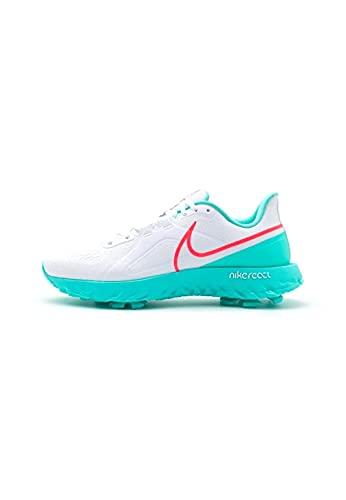 Nike React Infinity Pro Golfschuhe, Weiß - Weiß, Hot Punch, Aurora Grün - Größe: 44 EU
