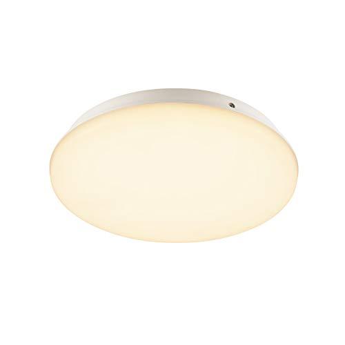 SLV Lámpara de pared y techo SIMA SENSOR / iluminación de techo y pared interior, foco LED, lámpara de construcción, foco de techo, IP44, 3000 K, 24 W, 2150 lm, color blanco