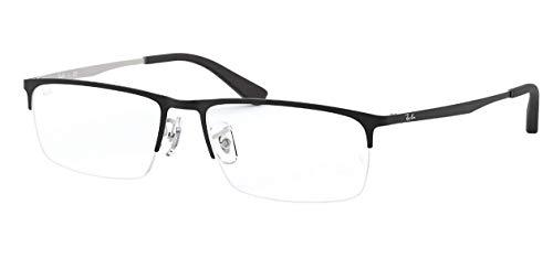 Ray-Ban Herren Rx6349D Brillen 55mm Top Mat Schwarz auf Mat Silber