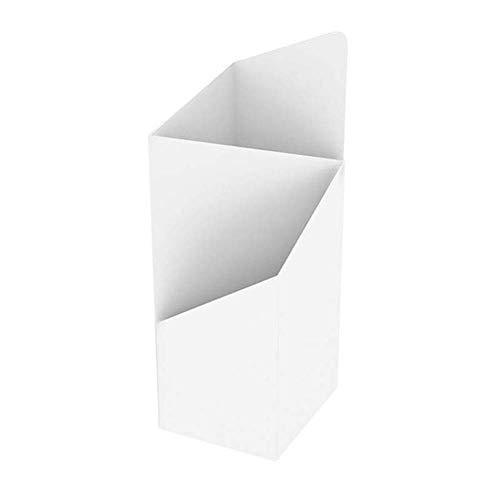 D&F Quadratisch Metall Schirmhalter,Regenschirmständer für Langen/kurzen Schirmständer,platzsparender Organizer Unregelmäßiger Regenwasserspeichereimer Haus Dekoration,Weiß