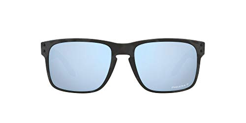 OO9102 Holbrook Sunglasses, Matte Black Camo/Prizm Deep Water Polarized, 57mm