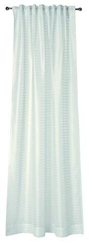 Joop! Dekoschal mit verdecktem Schlaufenband Waterline I 130x250 cm I Transparent I Gestreift I Farbe grau