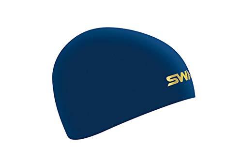 SWANS(スワンズ) スイムキャップ 水泳 競泳用 シリコーンキャップ ドーム型 Fina承認モデル ネイビー SA-10S フリー