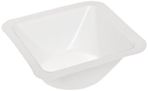 Heathrow Scientific HD1420A Wägeschälchen, Standard, Polystyrene, 46 mm Länge x 46 mm Breite x 8 mm Tiefe, Weiß (500-er Pack)