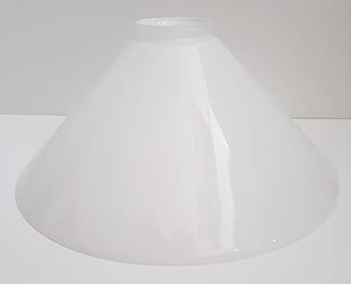 Ersatzglas Kragenrand Schusterschirm Lampenglas Lampenschirm konisch opal glänzend Pendelleuchte Tischleuchte Leseleuchte Fluterglas