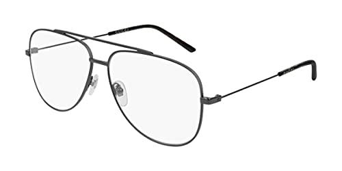 Gucci Gafas anteojos GG0442O 001 gris de la estructura de metal del tamaño de 60 mm de gafas de sol hombre