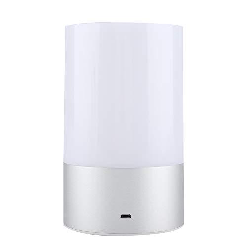 Oplaadbare touch-lamp LED dimbare 2800K-3100K warmwit tafellamp & RGB kleurverandering nachtkastje lamp licht voor slaapkamer werkkamer baby kamer woonkamer touchfunctie