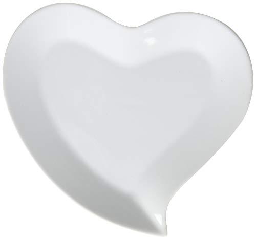 Herzförmige Teller, 4 Stück.