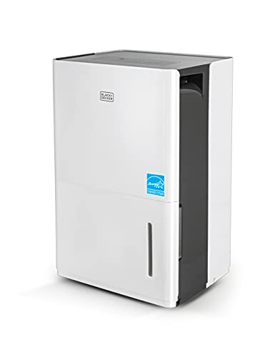 BLACK+DECKER 4500 Sq. Ft. Dehumidifier with Built-In Drain Pump for Continuous Drainage, for Large Spaces and Basements, Energy Star, Digital, BD50PMWSA, White