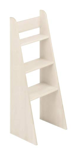 BioKinder 23819 Escalera de Mano Noah con Cama de Madera Maciza de Pino 100 cm Barnizado Blanco