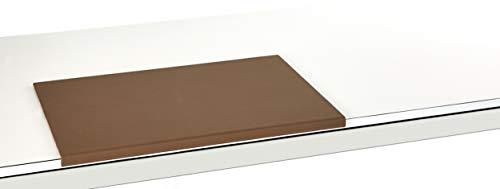 Luxentury Schreibtischunterlage Schreibunterlage Leder Kantenschutz: 58x39 cm Echtleder abgewinkelt Auflage braun rutschfest für Büro UBO580390