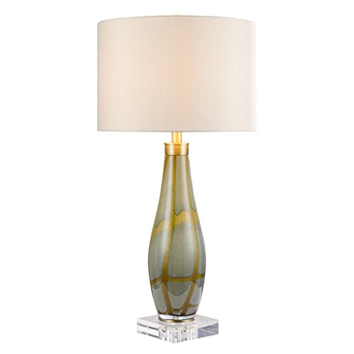 Lámpara de mesa Lámpara de mesa de noche de vidrio de lujo creativo moderno dormitorio mesita de noche lámpara estudio simple sala de estar decoración lámpara de mesa lámpara doméstico Noche Lámpara d