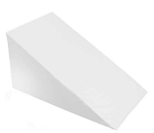 """24"""" X 24"""" X 12"""" - Bed Wedge Cover – Wedge Pillow Replacement Cover with Zipper - 100% Cotton Replacement Pillowcase for Bed Wedge - Universal Fit for Wedges Up to 27"""" Wide- 24"""" X 24"""" X 12"""" - White"""