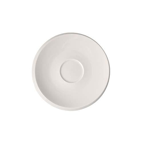 Villeroy & Boch 10-4264-1310 NewMoon Kaffeeuntertasse, dekorative, formschöne Untertasse aus Premium Porzellan, spülmaschinengeeignet, weiß, 17 cm, Porcelain