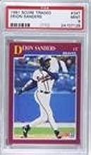 Deion Sanders PSA GRADED 9 (Baseball Card) 1991 Score Rookie & Traded - Box Set [Base] #34T