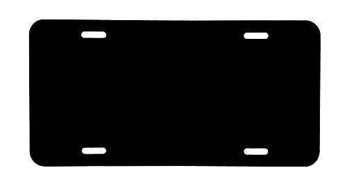 DMSE Wholesale Blank Metal Automotive License Plate Plates Tag for Custom Design Work - 0.025 Thickness/0.5mm - US/Canada Size 12x6 (Black)