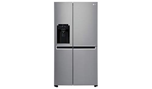 LG GSL761PZUZ Frigorifero Americano Side by Side Total No Frost con Congelatore, 601 L, 39 dB, Smart Diagnosis - Frigo con Dispenser Acqua e Ghiaccio, Wi-Fi e Display LED Esterno
